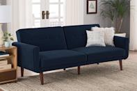 <p>This luxe <span>Better Homes and Gardens Nola Modern Futon</span> ($329) looks triple the price.</p>