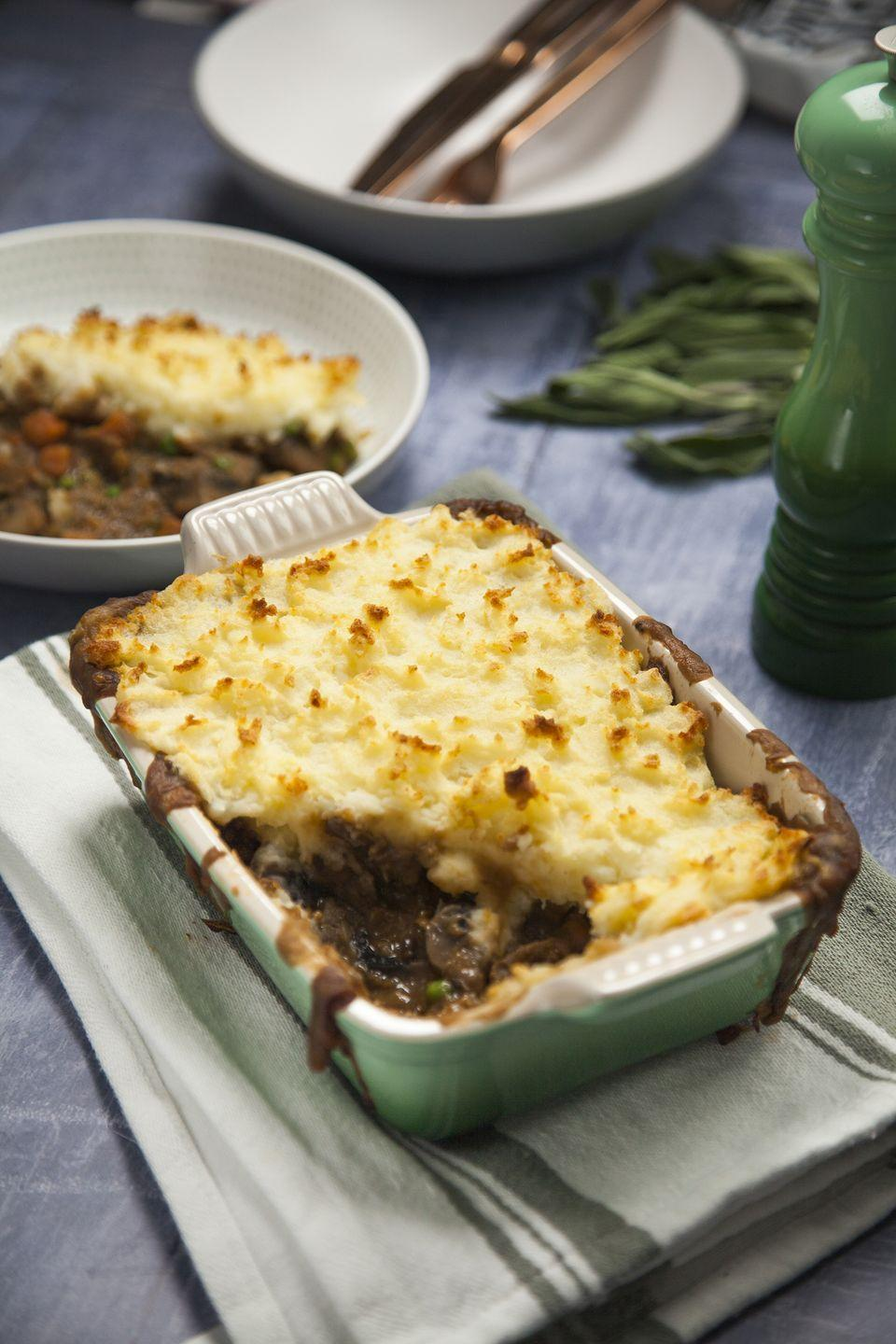 "<p>This vegan shepherd's pie is a comforting, Winter classic.</p><p><strong>Recipe: <a href=""https://www.goodhousekeeping.com/uk/food/recipes/a25599963/vegan-shepherds-pie/"" rel=""nofollow noopener"" target=""_blank"" data-ylk=""slk:Vegan Shepherd's Pie"" class=""link rapid-noclick-resp"">Vegan Shepherd's Pie </a></strong></p>"