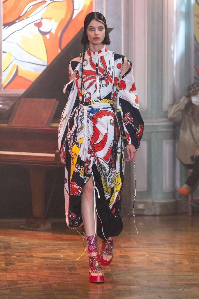 <p>It was a quiet season in terms of designer debuts (a rarity in recent years), but there was one that stood out. Rochas, known for its flounce and romance, got an impactful punch of print, color, and youth in the hands of Charles de Vilmorin. At only 24 years old, the designer had already gained praise from the industry, as he was invited to show on the couture schedule as guest designer earlier this year. He recently graduated from École de la Chambre Syndicale de la Couture Parisienne, but he clearly knows how to shake things up and make a bold impact.</p>