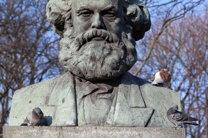 A statue of Karl Marx in Kaliningrad, Russia. (Photo: Alex Potemkin via Getty Images)