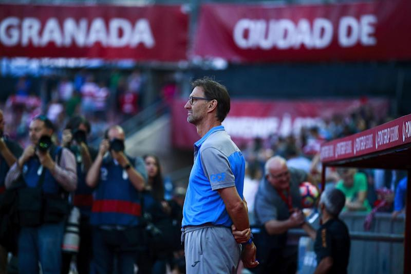 Loss | Tony Adams looks on as Granada lose 3-0 at home: Getty Images