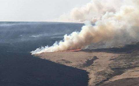 The blaze is covering 300 hectares of National Trust moorland - Credit: National Trust/PA