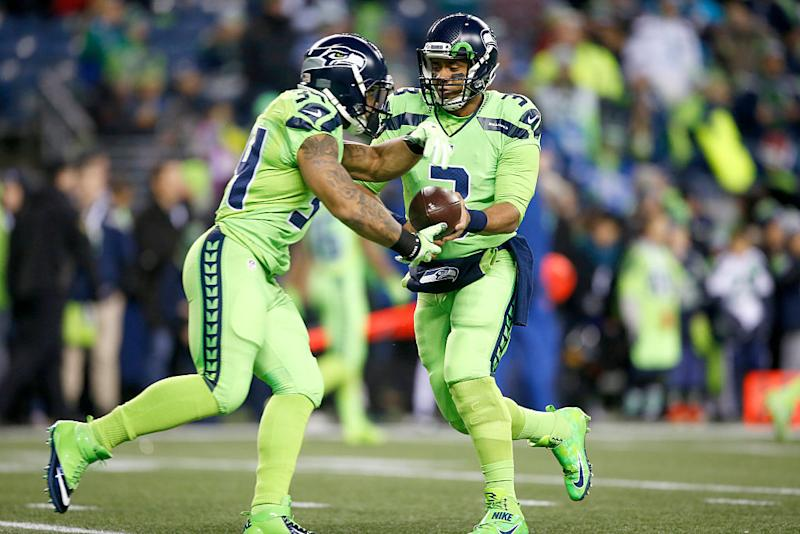 Pass or Fail   Seahawks  antifreeze-colored Color Rush uniforms d2aeba675