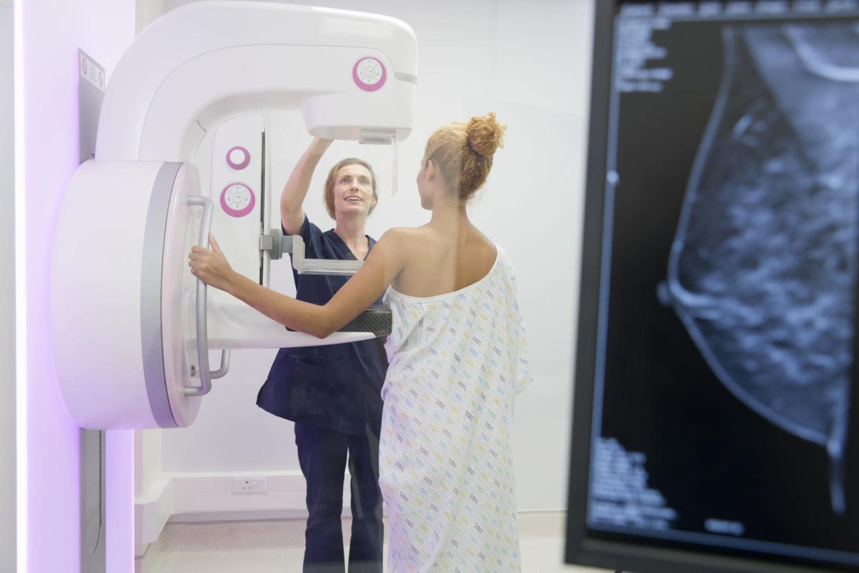 A TV journalist was diagnosed with breast cancer after live streaming her first mammogram [Photo posed by models: Getty]