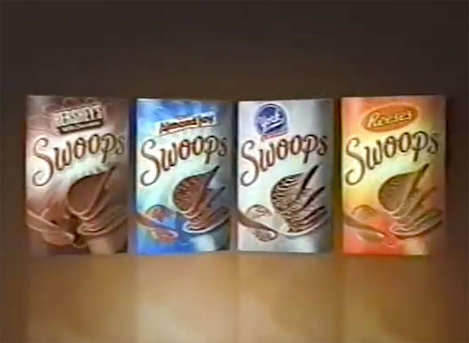 still from hersheys swoops commercial