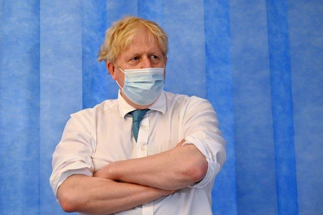 Prime Minister Boris Johnson suggested the country might have to 'wait' for Covid measures to be eased
