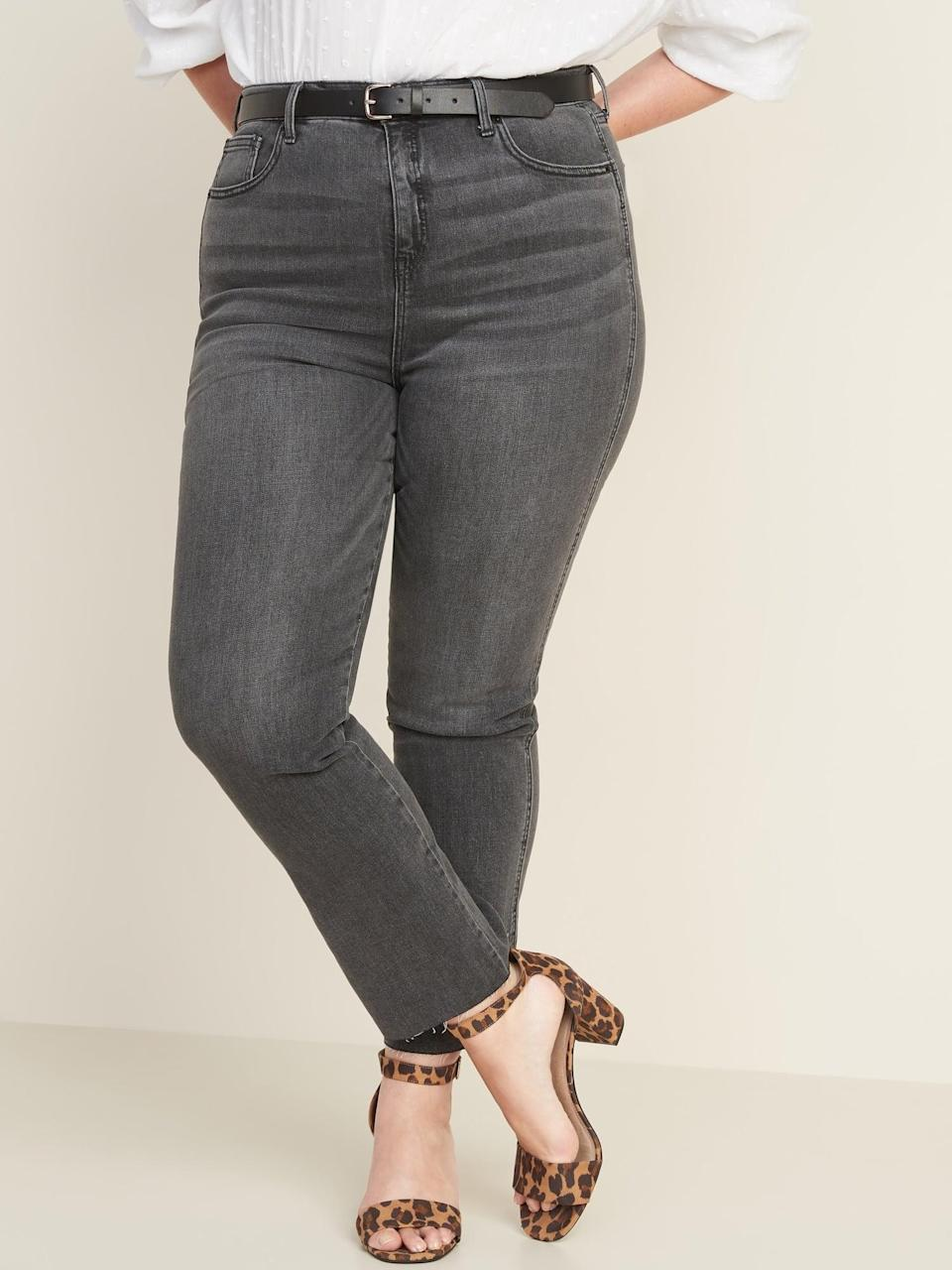 <p>These <span>High-Waisted Raw-Edged Flare Ankle Jeans</span> ($20, originally $40) will go with any top you style them with.</p>