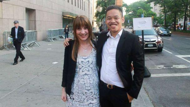 PHOTO: Kim Wall, left, and Justin Chan are seen in this undated photo in New York, New York. (Justin Chan)