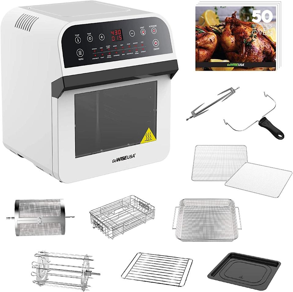 <p><span>GoWise USA Deluxe 12.7-Quarts 15-in-1 Electric Air Fryer Oven w/Rotisserie and Dehydrator</span> ($110, originally $145)</p>