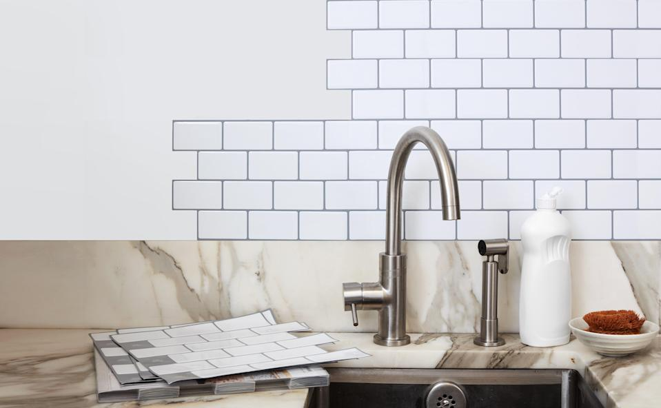 These Stick On Subway Tiles Will Transform Your Kitchen