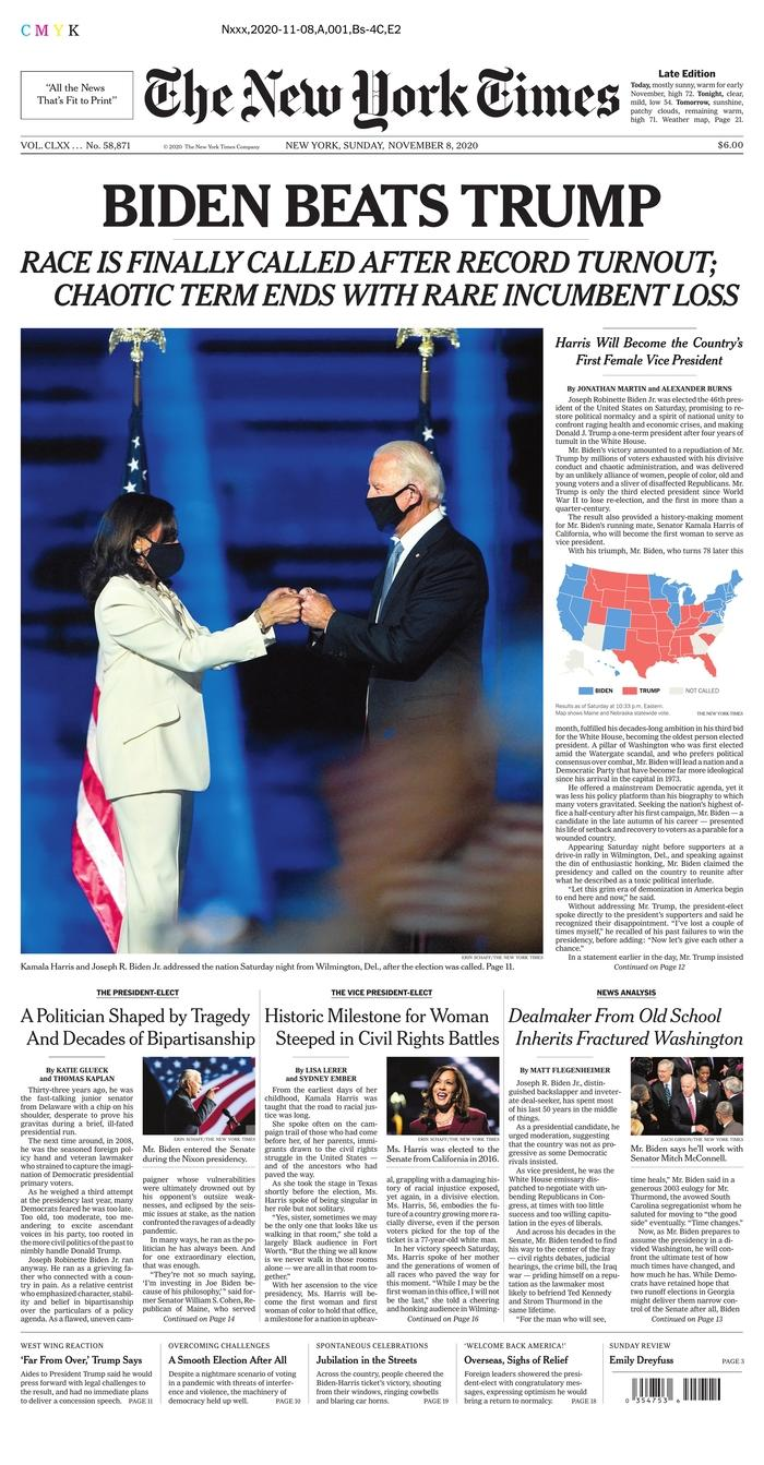 "The New York Times, Published in New York, N.Y. USA (<a href=""https://www.newseum.org/todaysfrontpages/?tfp_display=list&tfp_id=NY_NYT"" rel=""nofollow noopener"" target=""_blank"" data-ylk=""slk:Newseum"" class=""link rapid-noclick-resp"">Newseum</a>)"