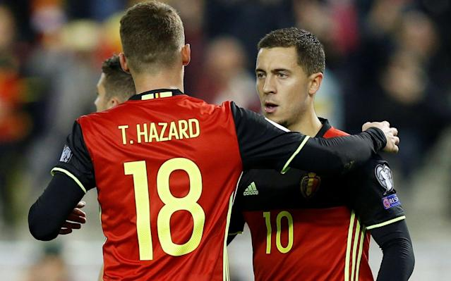 Here we take a look at Belgium's World Cup squad and the other things it will be handy to know. Belgium's preliminary World Cup squad - the 24 24-man squad* *Roberto Martinez said that World Cup rules allowed the final squad to be named 24 hours before they kick off their campaign Goalkeepers: Thibaut Courtois (Chelsea), Simon Mignolet (Liverpool), Koen Casteels (VfL Wolfsburg). Defenders: Toby Alderweireld (Tottenham), Thomas Meunier (Paris Saint-Germain), Thomas Vermaelen (Barcelona), Jan Vertonghen (Tottenham), Dedryck Boyata (Celtic), Vincent Kompany (Manchester City). Midfielders: Marouane Fellaini (Manchester United), Axel Witsel (Tianjin Quanjian), Kevin De Bruyne (Manchester City), Eden Hazard (Chelsea), Nacer Chadli (West Bromwich Albion), Leander Dendoncker (Anderlecht), Thorgan Hazard (Borussia Moenchengladbach), Youri Tielemans (Monaco), Mousa Dembele (Tottenham Hotspur). Forwards: Michy Batshuayi (Chelsea/Dortmund), Yannick Carrasco (Dalian Yifang), Adnan Januzaj (Real Sociedad), Romelu Lukaku (Manchester United), Dries Mertens (Napoli). Belgium fans expect their team to do well Credit: getty images Belgium's World Cup 2018 fixtures Belgium vs Panama: Monday, June 18 at 4pm Belgium vs Tunisia: Saturday, June 23 at 1pm Belgium vs England: Thursday, June 28 at 7pm Belgium's World Cup record World Cup record: Belgium How do you think Belgium should line up? Pick your XI here: Pick your Belgium XI for World Cup 2018 here What odds are Belgium to win the World Cup? 10/1 The kits See where Belgium's shirts ends up in our ranking of all 64 World Cup shirts below: World Cup kits ranked Who's the coach? Roberto Martinez. Ever-smiling and ultra-positive, but his defensive nous is open to question. Decision to leave out Radja Nainggolan has proved controversial. What are his and Belgium's tactics and likely formation? JJ Bull on how the Red Devils' squad of superstars could finally fulfil their potential and deliver: Who's the star? Plenty to choose from, but Kevin de Bruyne and Eden Hazard are the picks of a very talented bunch. Best thing about them A squad which is the envy of almost every nation on the planet. Loud, boisterous fans. World Cup predictor Worst thing about them Culture of underachievement at major tournaments. The perennial 'dark horses' tag no longer applies - this team should be challenging. You may recognise... Quicker to list those you won't. For added confusion, the squad also contains the lookalikey brothers of Eden Hazard and Romelu Lukaku (Thorgan and Jordan). Cameramen will be picking out... The proud Lukaku and Hazard parents, presumably. World Cup 2018 | Fixtures, groups, squads and more Fans' favourite chant A viral video from 2016 showed Belgian and Ireland fans congregating in the shared language of 'La-la-la-la-las'. On-field prediction Imperious right up until they meekly exit in the quarter-finals to some gnarled South Americans. Off-field prediction Fine until they go out, then anonymous media briefings about the standard of hotel catering and a 'coarse' feel to the grass at their training base. Full 2018 World Cup squad lists and guides | Star to watch, odds, fans' chants and more WorldCup - newsletter promo - end of article