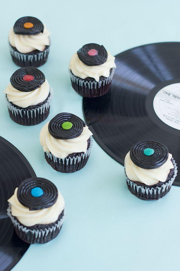 """<p>Dad probably has some beloved records that bring back so many memories. He'll certainly enjoy these DIY record cupcakes made with black licorice wheels and fruit candies on top. </p><p><strong>Get the tutorial at <a href=""""https://studiodiy.com/diy-record-cupcake-toppers/"""" rel=""""nofollow noopener"""" target=""""_blank"""" data-ylk=""""slk:Studio DIY"""" class=""""link rapid-noclick-resp"""">Studio DIY</a>.</strong></p><p><a class=""""link rapid-noclick-resp"""" href=""""https://go.redirectingat.com?id=74968X1596630&url=https%3A%2F%2Fwww.walmart.com%2Fip%2FBroadway-Black-Licorice-Wheels-Candy-Bulk-Pack-2-lbs%2F932342555&sref=https%3A%2F%2Fwww.thepioneerwoman.com%2Fholidays-celebrations%2Fg36333267%2Ffathers-day-activities%2F"""" rel=""""nofollow noopener"""" target=""""_blank"""" data-ylk=""""slk:SHOP BLACK LICORICE WHEELS"""">SHOP BLACK LICORICE WHEELS</a></p>"""