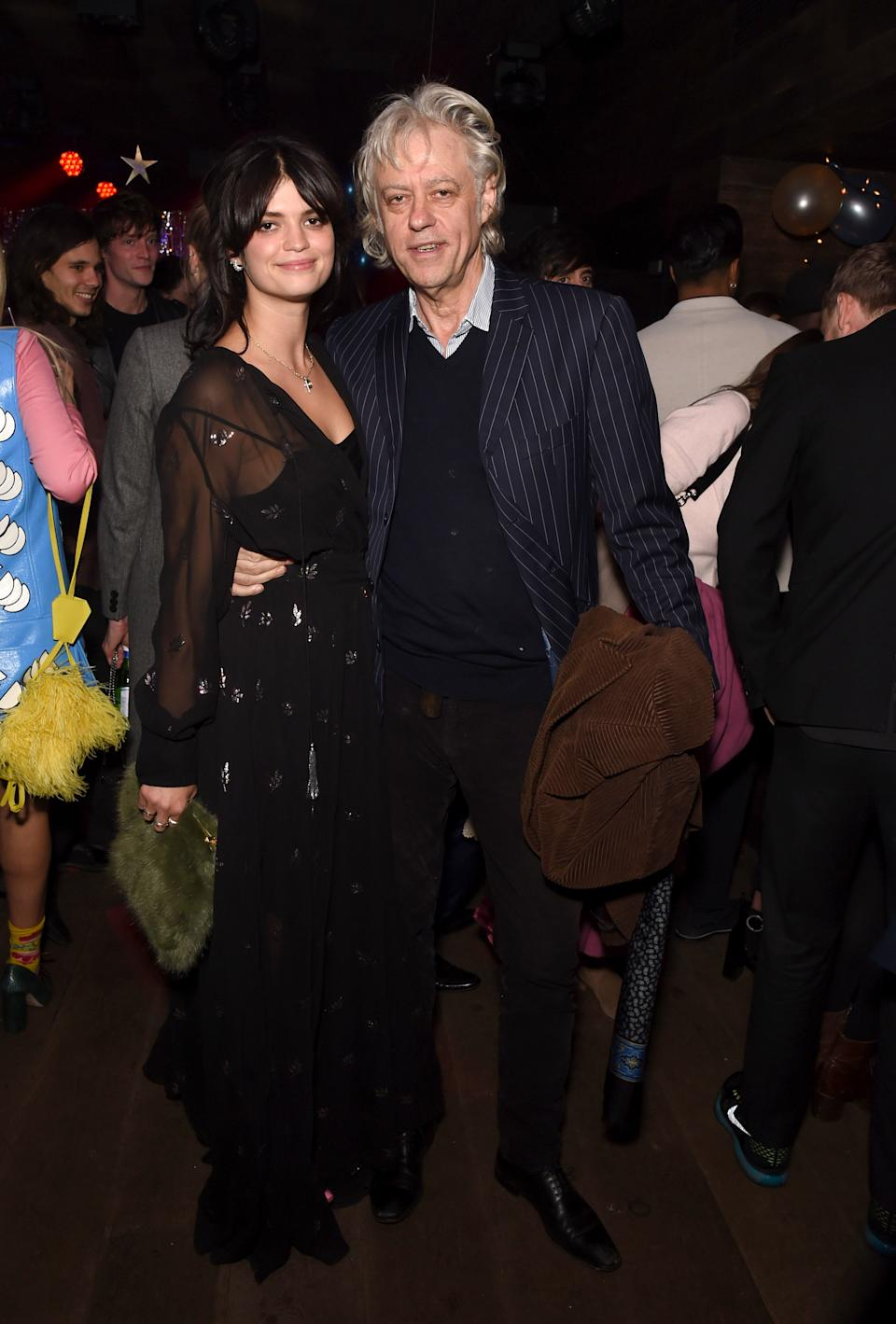LONDON, ENGLAND - NOVEMBER 03:  Pixie Geldof and Bob Geldof attend Pixie's album launch hosted by Semaine at The London EDITION on November 3, 2016 in London, England.  (Photo by David M. Benett/Dave Benett / Getty Images for The London EDITION)