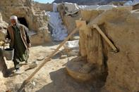 Among Afghanistan's top sites are the Buddhist shrines at Mes Aynak, but the Taliban have said nothing more about the protection of relics (AFP/SHAH MARAI)