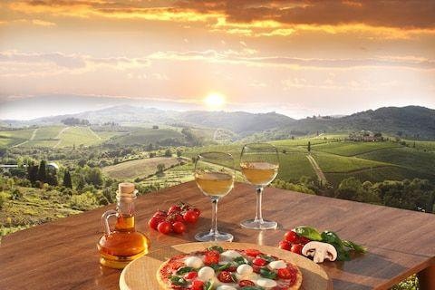 Food and wine in the Chianti region of Tuscany - Credit: AP