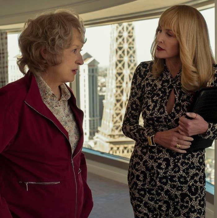 """Meryl Streep and Sharon Stone share a scene in """"The Laundromat"""""""
