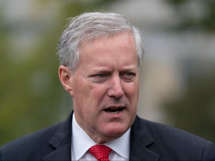 White House Chief of Staff Mark Meadows speaks to the media at the White House in Washington, DC (EPA)