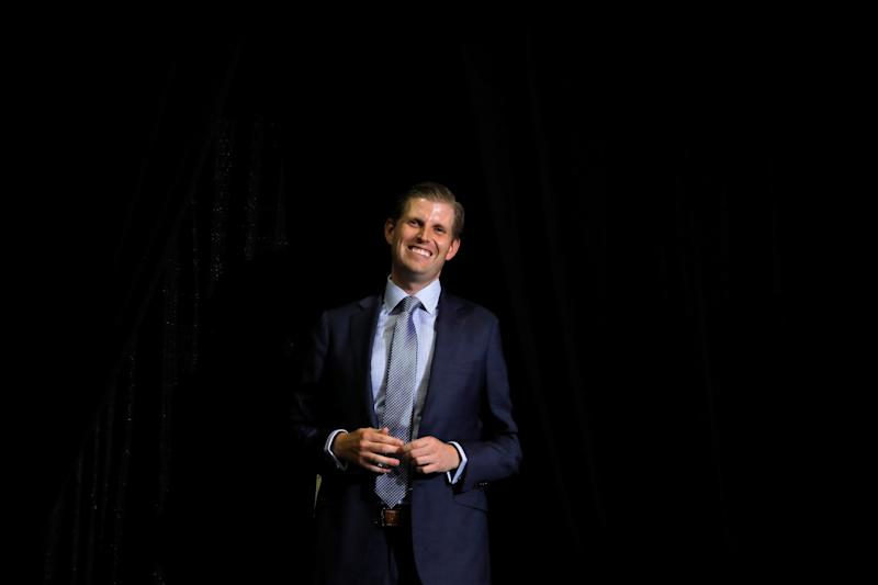 Eric Trump attends a rally of his father U.S. President Donald Trump in Huntington, West Virginia U.S., August 3, 2017. REUTERS/Carlos Barria