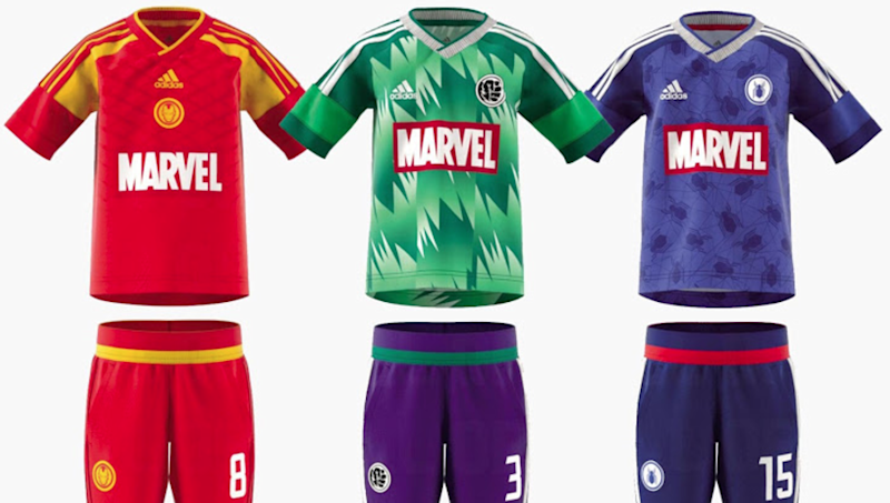dc32fed14 Leaked  Adidas  stunning new Marvel superhero football kits set for 2018  release