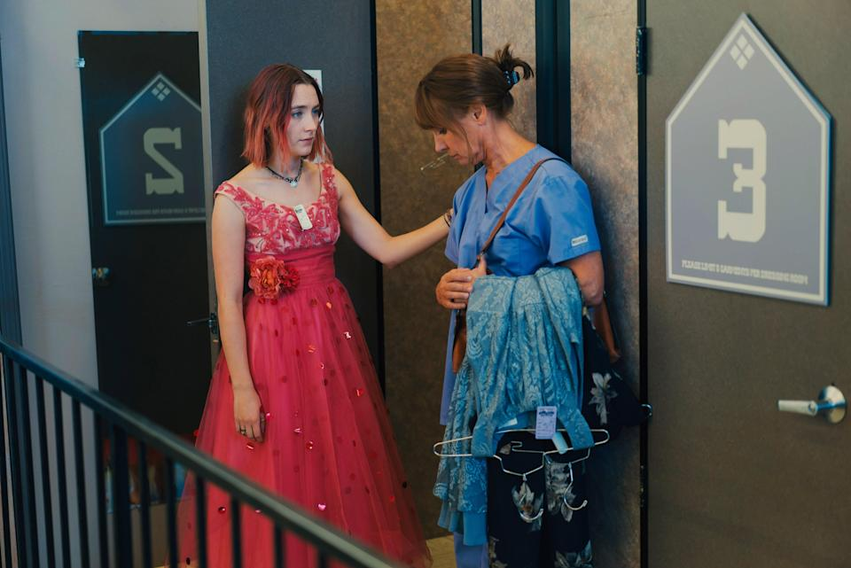 """<p>My mom and I have a long-standing tradition of going to the """"fancy"""" theater in town any time we have a free day together. (It has the best popcorn–real butter!) But one of the most memorable trips was the time we saw <em>Lady Bird</em>. I related deeply to Saoirse Ronan's character, a teen who feels stifled and misunderstood and longs to leave her small town. My mom connected to Laurie Metcalf's Marion, a mother who is trying her best to connect and often failing to find the right words. We cried together, and felt closer as we left. –<em>AM</em> </p> <p><a href=""""https://cna.st/affiliate-link/2Z6F81fjBAMUbaw55t2E8q41eU5eDQYHEH5vMP7s8X5gXGxyxd3zMWPNSLVfSbD6S5rxYoM8tGAYsiVuAMA3TgTKBe2S?cid=6093006ca3c02847c485d283"""" rel=""""nofollow noopener"""" target=""""_blank"""" data-ylk=""""slk:Stream it on Netflix"""" class=""""link rapid-noclick-resp""""><em>Stream it on Netflix</em></a></p>"""