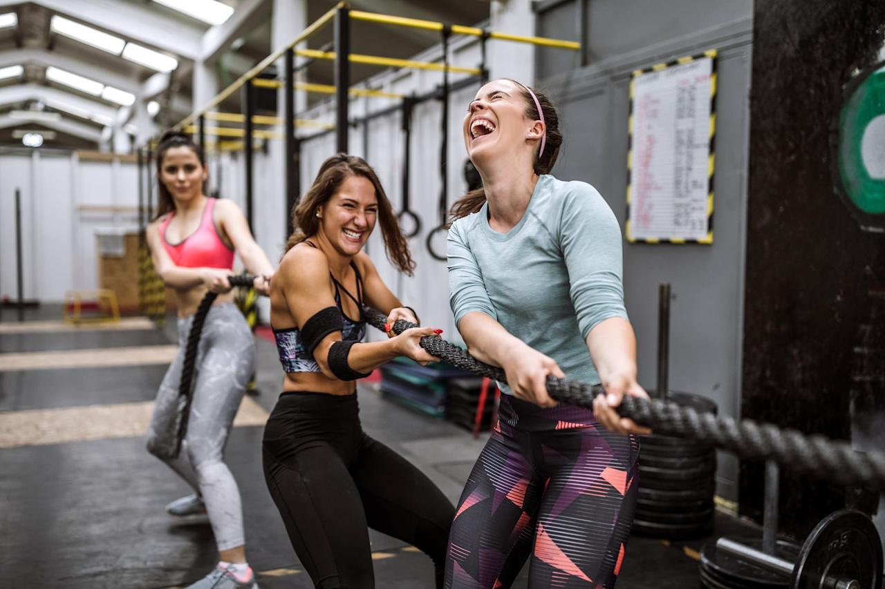 """<p>Be clear about your goals from the start. Do you want to <a href=""""https://www.popsugar.com/fitness/Strength-Training-Help-Me-Lose-Weight-43582214"""" class=""""ga-track"""" data-ga-category=""""Related"""" data-ga-label=""""https://www.popsugar.com/fitness/Strength-Training-Help-Me-Lose-Weight-43582214"""" data-ga-action=""""In-Line Links"""">get stronger and build muscle</a>? Are you hoping to lose weight? Is having fun a top priority? Think about the kinds of workouts that check those boxes and where you'll need to go to find them.</p>"""