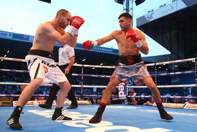 Jack Catterall, right, is the WBO light-welterweight mandatory challenger (Dave Thompson/PA)