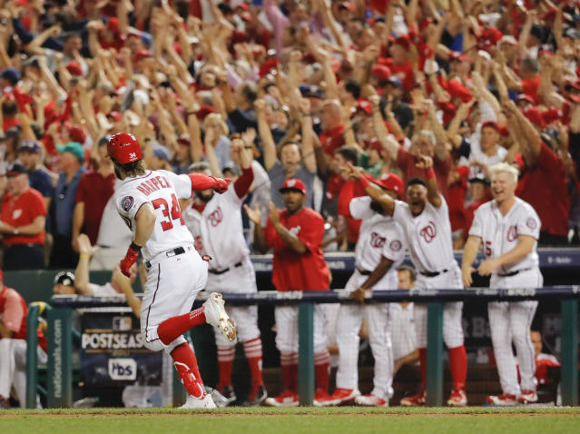 If the Nationals need some late-inning magic in Game 5, now they won't have to worry about fans needing to leave early. (AP Photo)