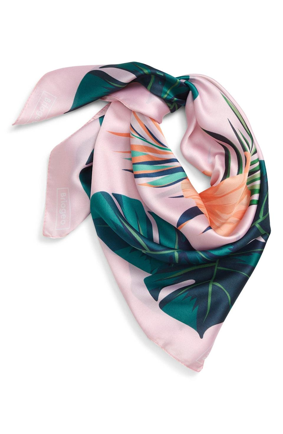 <p>This <span>Briogeo Paradise Satin Scarf</span> ($48) looks so luxe and soft; your favorite aunt will get a lot of wear out of it.</p>