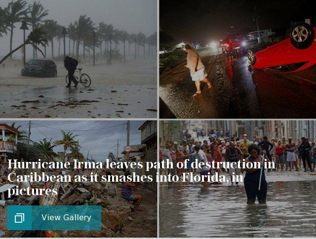 Hurricane Irma leaves path of destruction in Caribbean as it smashes into Cuba, in pictures