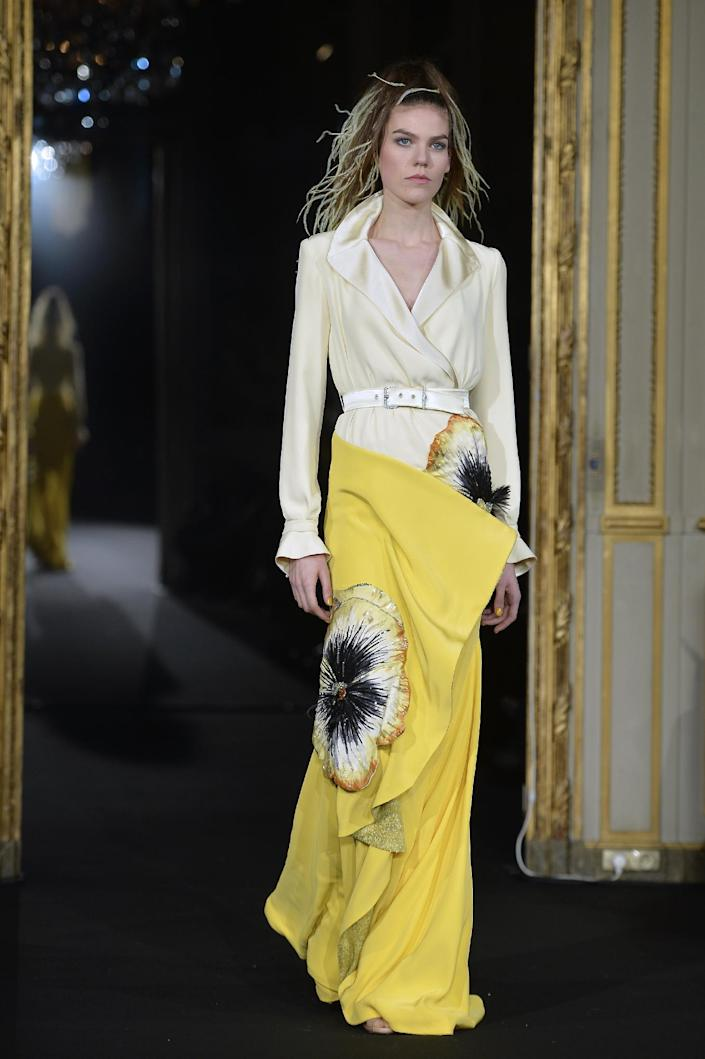 Alexis Mabille's flower strewn Haute Couture collection for Spring 2015