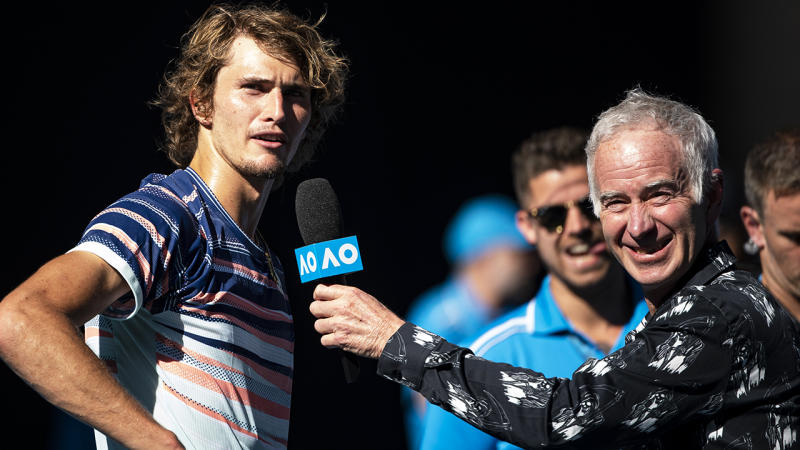 Alexander Zverev re-affirmed his pledge to donate the money he would get for winning the Australian Open to bushfire relief after winning through to the tournament's semi-final. (Photo by TPN/Getty Images)