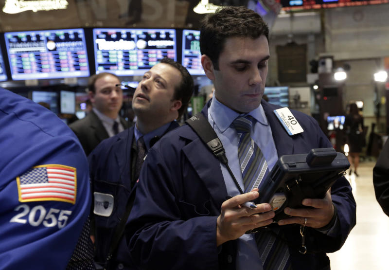 Dow Jones industrial average surges to record