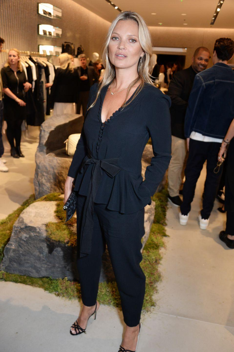 <p>The model wore a Stella McCartney jumpsuit at the designer's new flagship store opening in London.</p>
