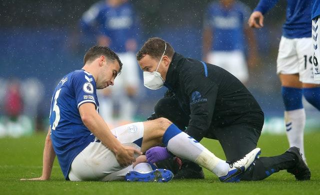 Everton's Seamus Coleman looks unlikely to feature for Ireland in Slovakia