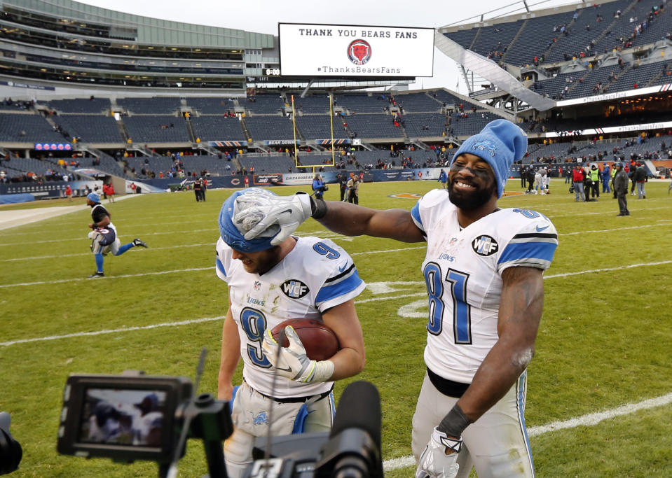 The Calvin Johnson-Matthew Stafford tandem was good enough to get Detroit into the postseason three times. They lost in each of those playoff games. (AP Photo/Charles Rex Arbogast)