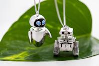 """<p>You don't have to say much to show the <a href=""""https://www.rocklove.com/products/pixar-wall-e-necklace"""" rel=""""nofollow noopener"""" target=""""_blank"""" data-ylk=""""slk:WALL-E"""" class=""""link rapid-noclick-resp"""">WALL-E</a> or <a href=""""https://www.rocklove.com/products/pixar-wall-e-eve-necklace"""" rel=""""nofollow noopener"""" target=""""_blank"""" data-ylk=""""slk:EVE"""" class=""""link rapid-noclick-resp"""">EVE</a> in your life how special they are with these necklaces from RockLove Jewelry.</p> <p><strong>$175 each, <a href=""""https://www.rocklove.com/products/pixar-wall-e-necklace"""" rel=""""nofollow noopener"""" target=""""_blank"""" data-ylk=""""slk:rocklove.com"""" class=""""link rapid-noclick-resp"""">rocklove.com</a></strong></p>"""
