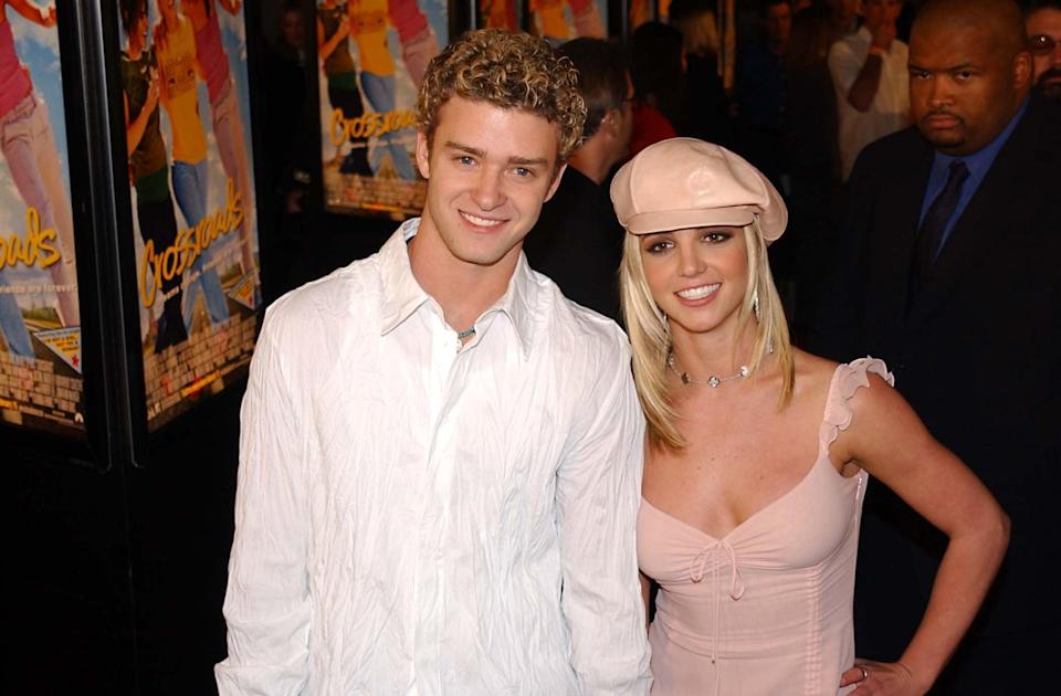 "<p>In 2002, the couple abruptly split, and, pretty quickly, Justin snagged the role of victim, going on interview circuits and talking about being cheated on while also slut-shaming Britney. Some of these clips made it into the <strong>Framing <a class=""link rapid-noclick-resp"" href=""https://www.popsugar.com/Britney-Spears"" rel=""nofollow noopener"" target=""_blank"" data-ylk=""slk:Britney Spears"">Britney Spears</a></strong> documentary.</p> <p>""He has gone on television and pretty much said you broke his heart,"" Diane Sawyer said in one interview clip. ""You did something that caused him so much pain, so much suffering - what did you do?""</p> <p>Justin also bragged about sleeping with Britney in several different interviews - occasionally alluding to graphic details - and, <a href=""http://www.youtube.com/watch?v=zIjgCn6JkXU"" class=""link rapid-noclick-resp"" rel=""nofollow noopener"" target=""_blank"" data-ylk=""slk:during one Barbara Walters interview"">during one Barbara Walters interview</a>, outright laughed when Walters asked if Britney had kept her promise to wait until marriage to have sex.</p> <p>""The way that people treated her, to be very high school about it, was like she was the school slut and he was the quarterback,"" <strong>New York Times</strong> critic at large Wesley Morris says in the documentary.</p>"