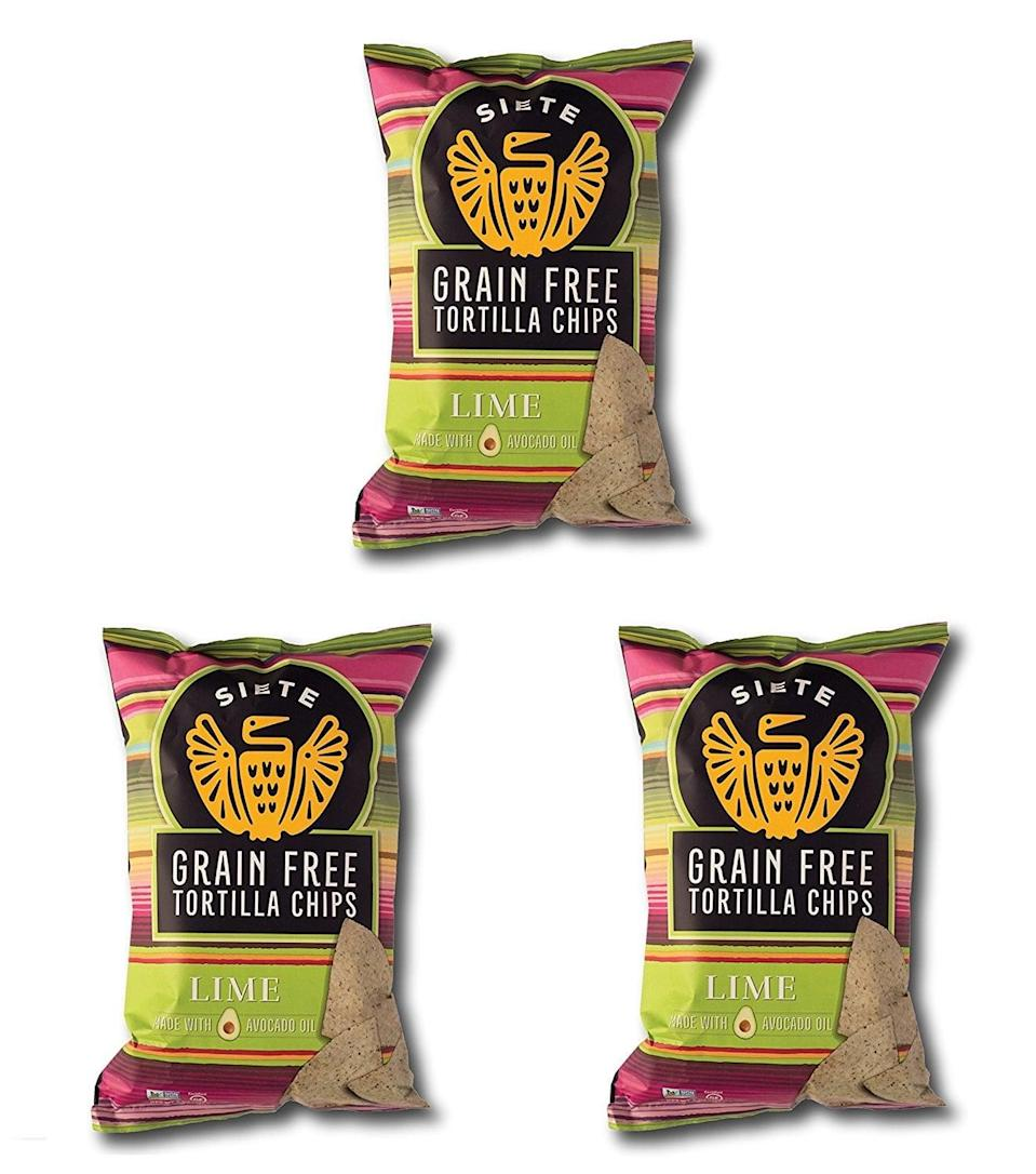 <p>We've needed these <span>Siete Grain-Free Tortilla Chips</span> ($23 for a 3-pack) taken away from us - they're <em>that</em> delicious. The lime flavor is our personal favorite.</p>