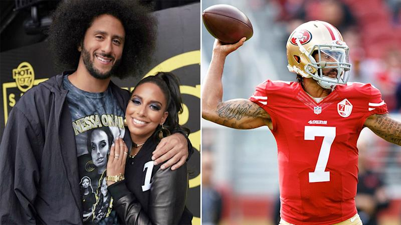 Pictured here, Colin Kaepernick and his girlfriend Nessa Diab.