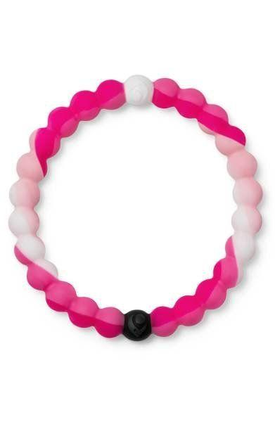 """This limited edition pink bracelet by Lokai is a symbol of hope, support and solidarity for breast cancer. With every Pink Lokai purchased through October 31, 2017, Lokai will donate $1 to the Breast Cancer Research Foundation. Get it <a href=""""http://shop.nordstrom.com/s/lokai-limited-edition-pink-bracelet/4750744?origin=keywordsearch-personalizedsort&fashioncolor=PINK"""" target=""""_blank""""><strong>here</strong></a>."""