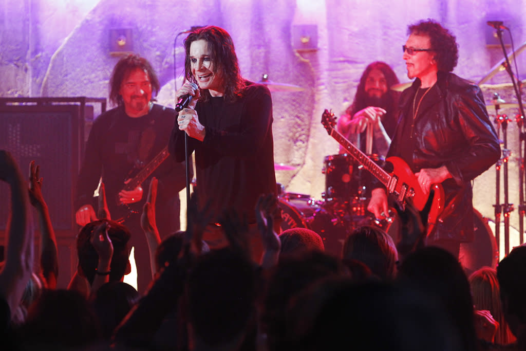 """Skin in the Game"" --  Rock & Roll Hall of Fame Inductees Black Sabbath (Ozzy Osbourne, Tony Iommi and Geezer Butler) will make a rare television appearance when they perform a new song in the season finale of CSI: CRIME SCENE INVESTIGATION, Wednesday, May 15 (10:00-11:00PM ET/PT) on the CBS Television Network."