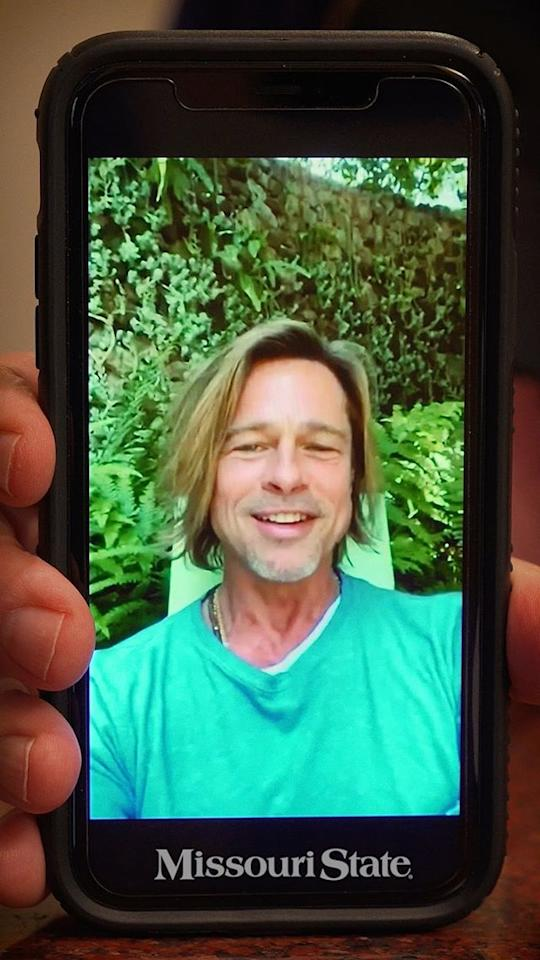 Brad Pitt Sends A Special Video Message To College ...