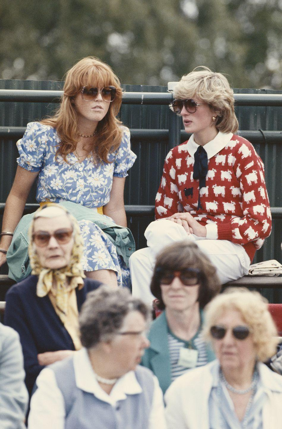 """<p>The statement sweater to end all statement sweaters, Diana's infamous """"black sheep"""" crewneck spoke volumes about her perceived place in the royal family. Also, it was very cute.<br></p>"""