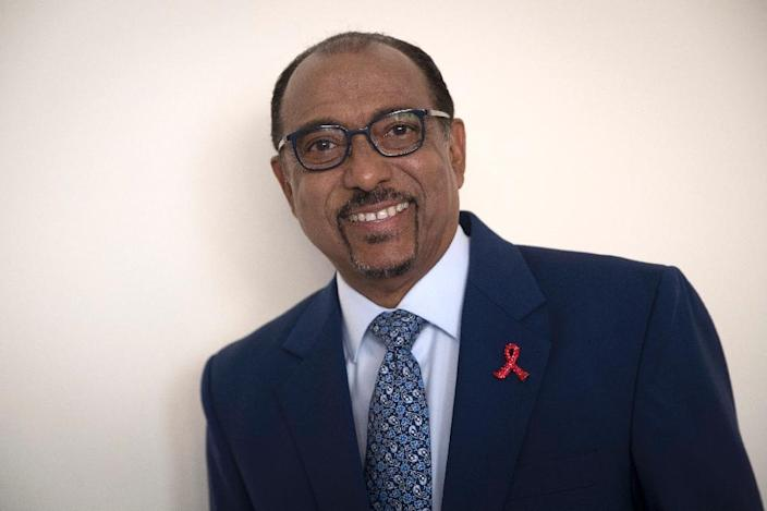 """Malian Michel Sidibe, Executive Director of UNAIDS, warned that a funding gap of almost $7 billion in AIDS prevention may lead to an increase in the number of infections, with people having to """"pay later"""" what is not being paid for now in prevention (AFP Photo/Thomas SAMSON)"""