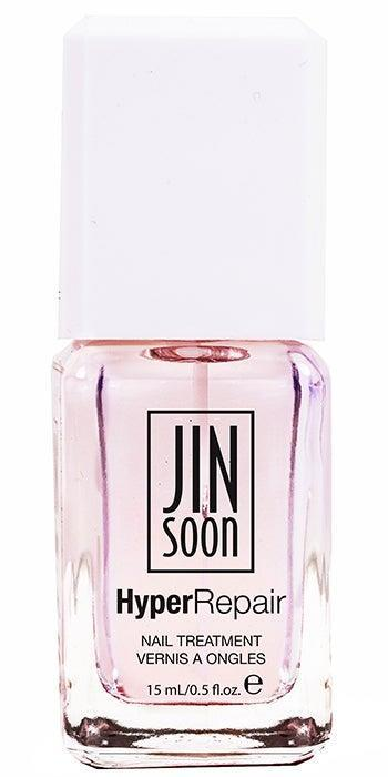 """<h3>JINsoon HyperRepair</h3><br>The ingredient list for nail artist's Jin Soon Choi's new base coat reads more like a fancy skin serum: A trio of <a href=""""https://www.refinery29.com/en-us/2017/12/184773/best-acids-for-skin"""" rel=""""nofollow noopener"""" target=""""_blank"""" data-ylk=""""slk:AHAs"""" class=""""link rapid-noclick-resp"""">AHAs</a> refine the nail surface, while a potent cocktail of vitamins B5, C, and E helps nourish and restore nails <a href=""""https://www.refinery29.com/en-us/how-to-repair-nails-after-gel-manicure-damage"""" rel=""""nofollow noopener"""" target=""""_blank"""" data-ylk=""""slk:damaged by gels"""" class=""""link rapid-noclick-resp"""">damaged by gels</a>.<br><br><strong>JINsoon</strong> HyperRepair, $, available at <a href=""""https://go.skimresources.com/?id=30283X879131&url=https%3A%2F%2Fjinsoon.com%2Fhyperrepair%2F"""" rel=""""nofollow noopener"""" target=""""_blank"""" data-ylk=""""slk:JinSoon"""" class=""""link rapid-noclick-resp"""">JinSoon</a>"""