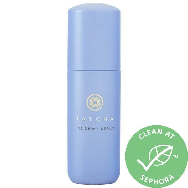 <p>The lactic acid that takes on fine lines and textured skin from this <span>Tatcha The Dewy Serum Resurfacing and Plumping Treatment</span> ($88) actually comes from green tea, rice, and algae.</p>