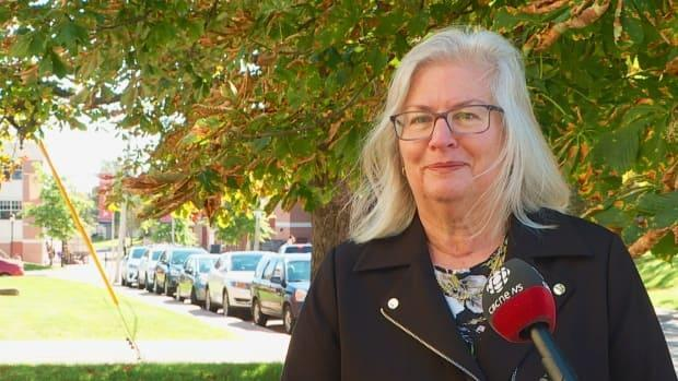 Darcie Lanthier, who sits on the federal Green Party council, says she doesn't blame Annamie Paul for stepping down as leader. (Nicola MacLeod/CBC - image credit)