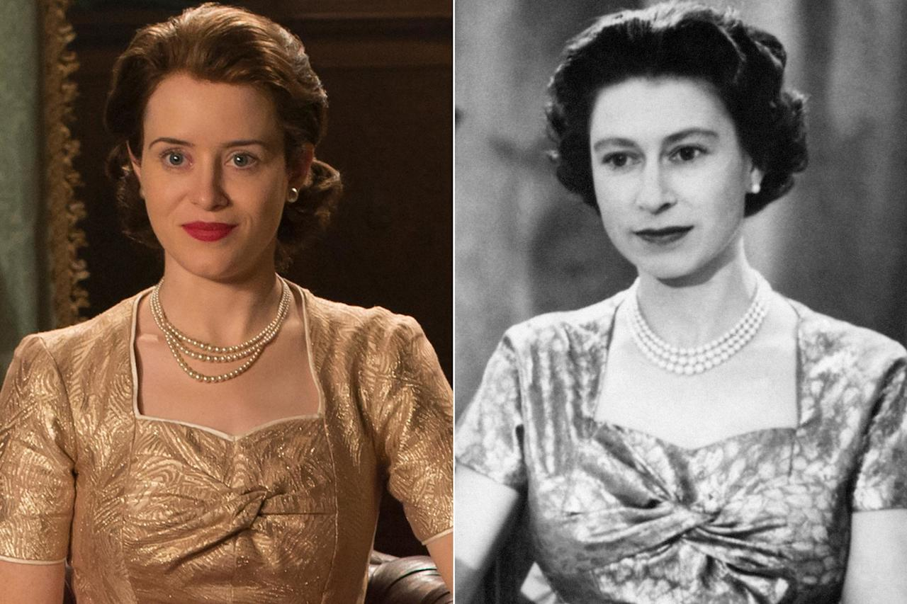 """<a href=""""https://ew.com/tag/claire-foy/"""">Claire Foy</a> played Queen Elizabeth II on seasons 1 and 2 of<a href=""""https://ew.com/creative-work/the-crown/""""><em>The Crown</em></a>. She earned a <a href=""""https://ew.com/golden-globes/2017/01/08/golden-globes-2017-claire-foy-tv-supporting-actress/"""">Golden Globe,</a>an <a href=""""https://ew.com/emmys/2018/09/17/claire-foy-lead-actress-drama-emmys-2018/"""">Emmy</a>, and two SAG Awards for her portrayal."""