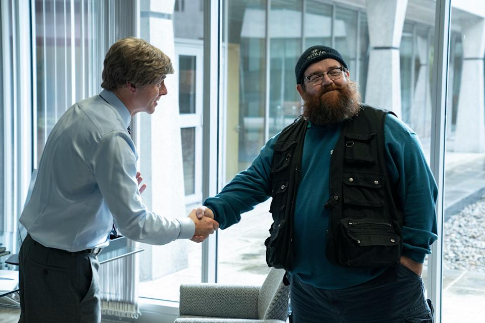 Simon Pegg and Nick Frost in Truth Seekers (Amazon Prime)
